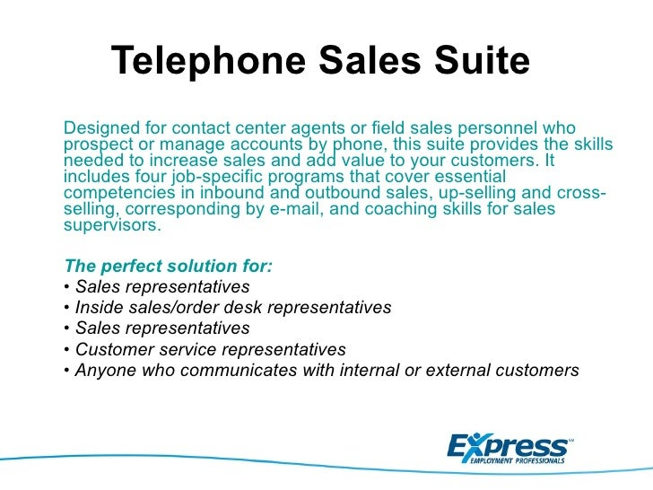 Express qualifications to serve call center & customer service indust…