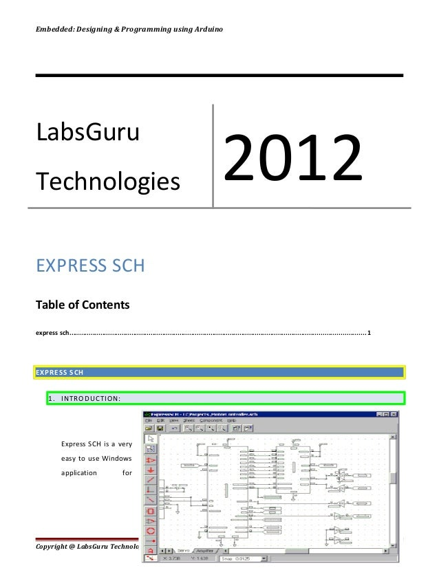 Embedded: Designing & Programming using ArduinoEXPRESS SCHTable of Contentsexpress sch.......................................