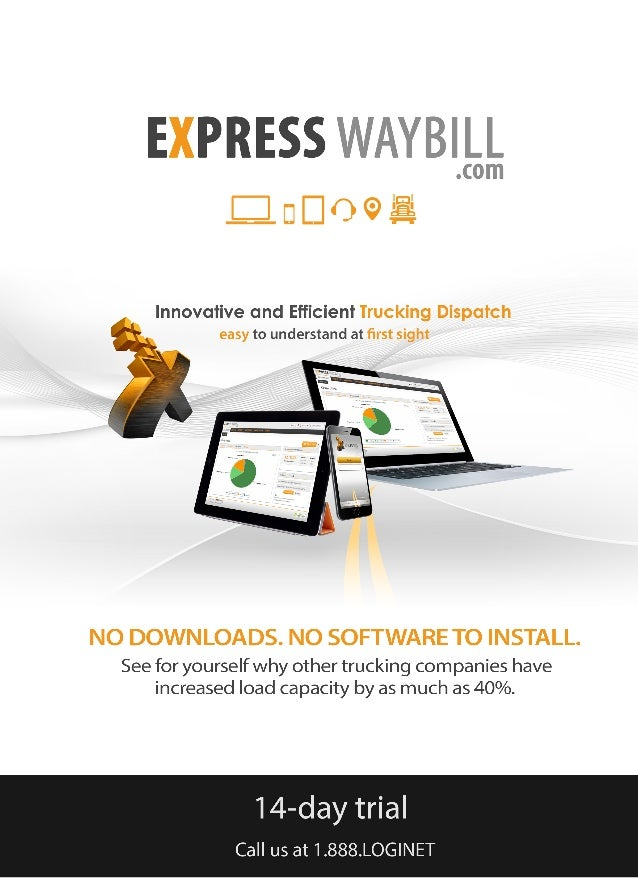 Express Waybill Intermodal Trucking Software