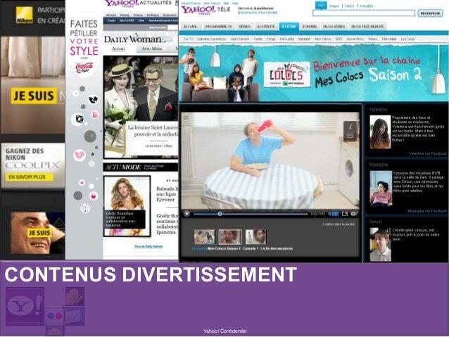 Yahoo! Confidentiel CONTENUS DIVERTISSEMENT