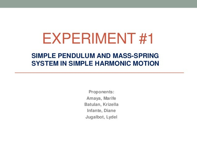Simple Pendulum and Mass-Spring System in SHM
