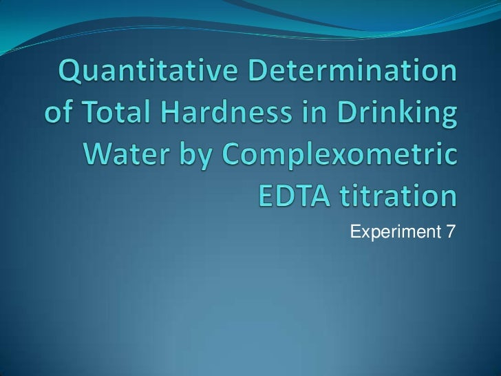complexometric determination of water hardness 2 essay