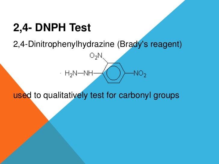 Dinitrophenylhydrazine test