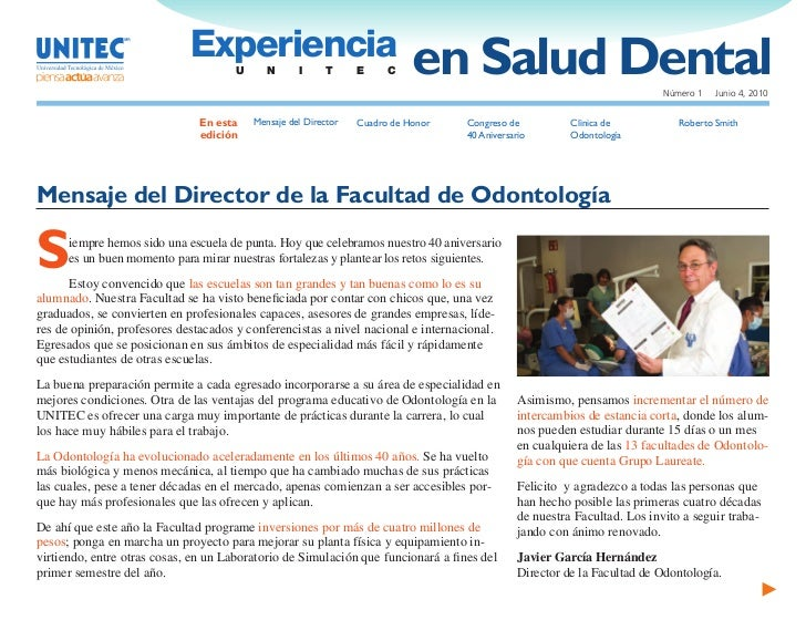 Experiencia                                       U      N      I      T     E     C    en Salud Dental                   ...