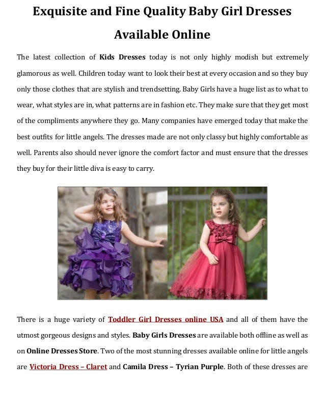 20e6d1d43515 Exquisite and fine quality baby girl dresses available online
