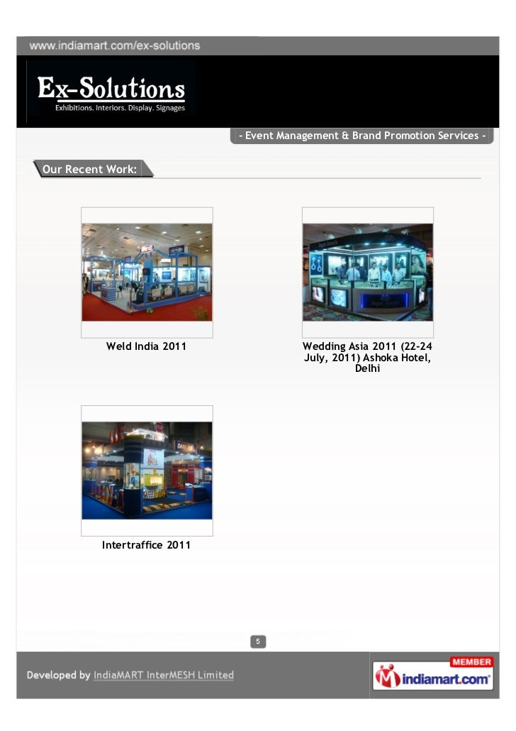 - Event Management & Brand Promotion Services -Our Recent Work:          Weld India 2011                  Wedding Asia 201...