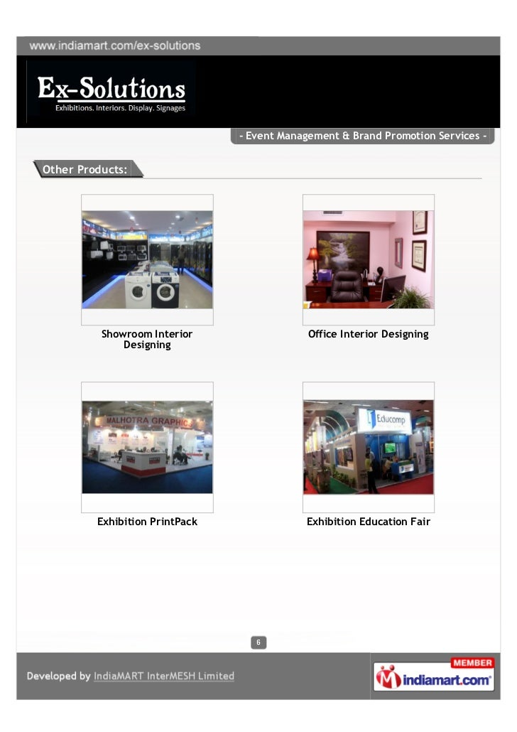- Event Management & Brand Promotion Services -Other Products:          Showroom Interior                  Office Interior...