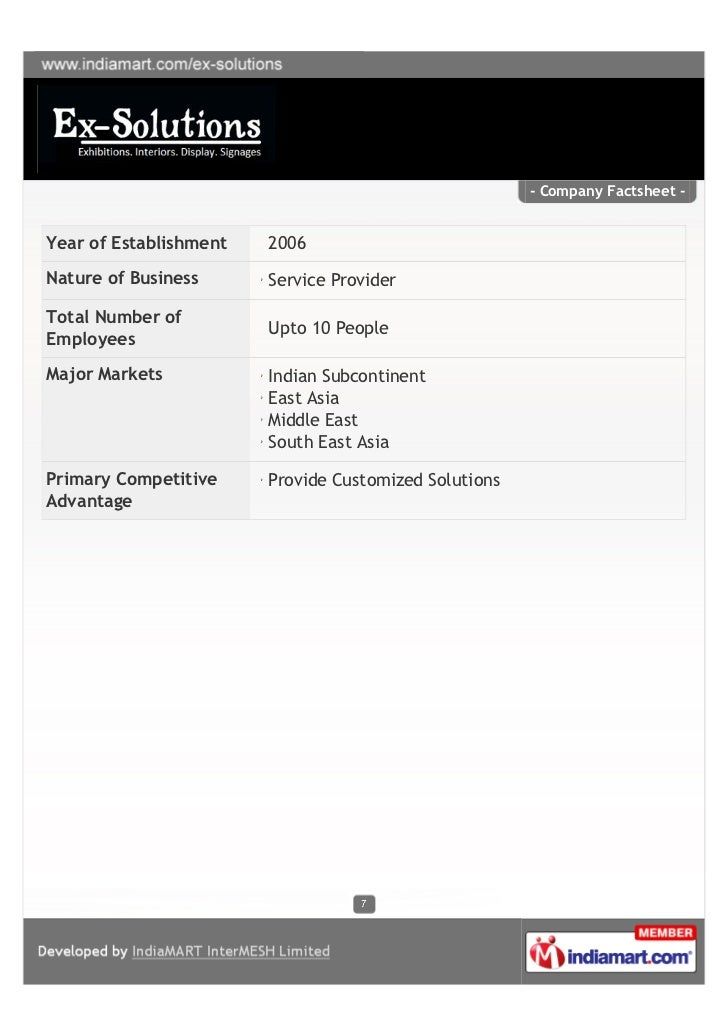 - Company Factsheet -Year of Establishment   2006Nature of Business      Service ProviderTotal Number of                  ...