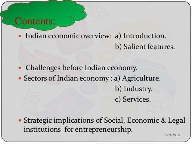Indian Economic Overview Challenges And Strategic Implications Of So