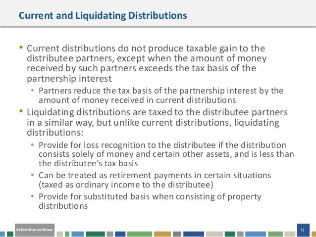 Nonliquidating property distributions