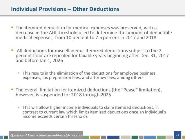 Webinar Slides: Tax Reform's Impact on High Net Worth