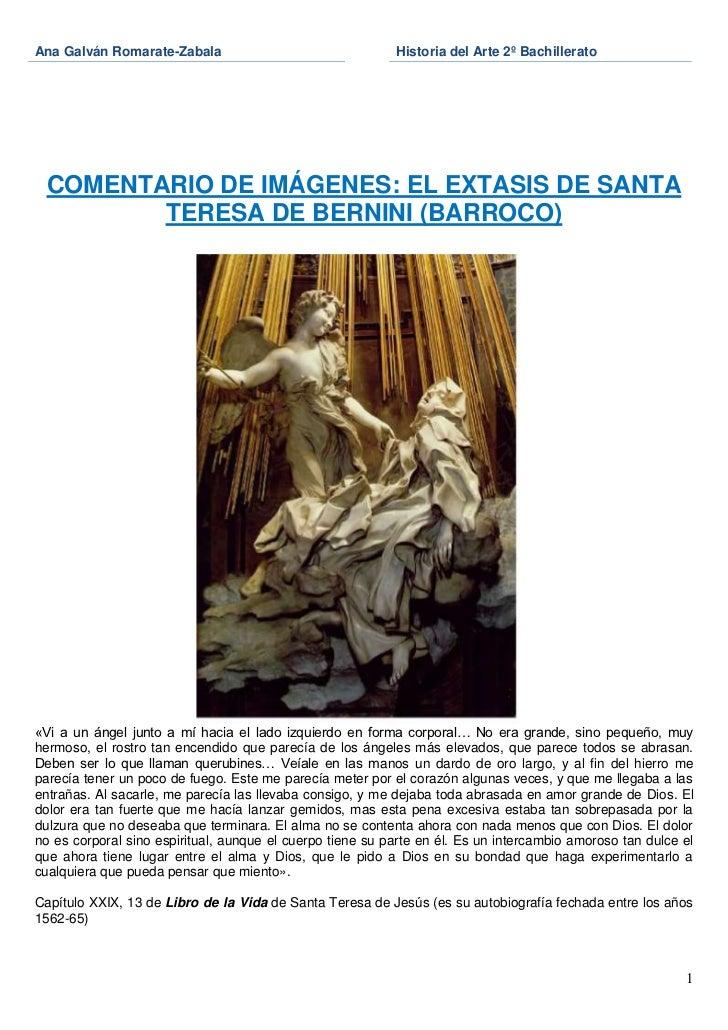 Ana Galván Romarate-Zabala                                 Historia del Arte 2º Bachillerato COMENTARIO DE IMÁGENES: EL EX...