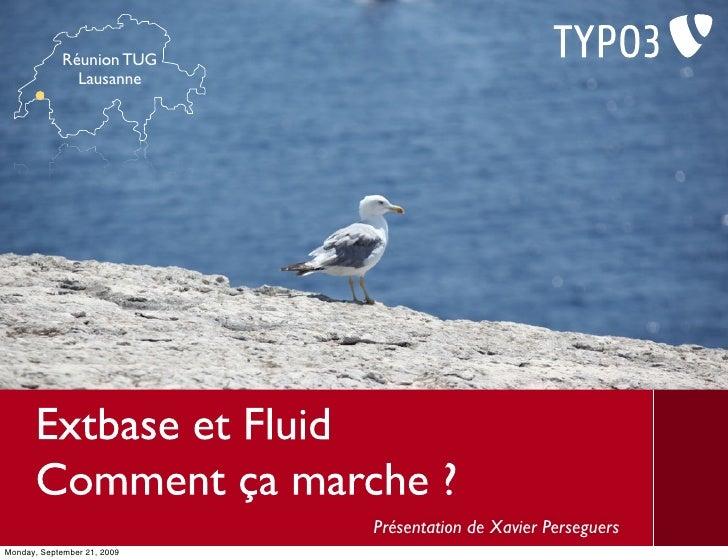 Réunion TUG                Lausanne                                  Présentation de Xavier Perseguers Monday, September 2...