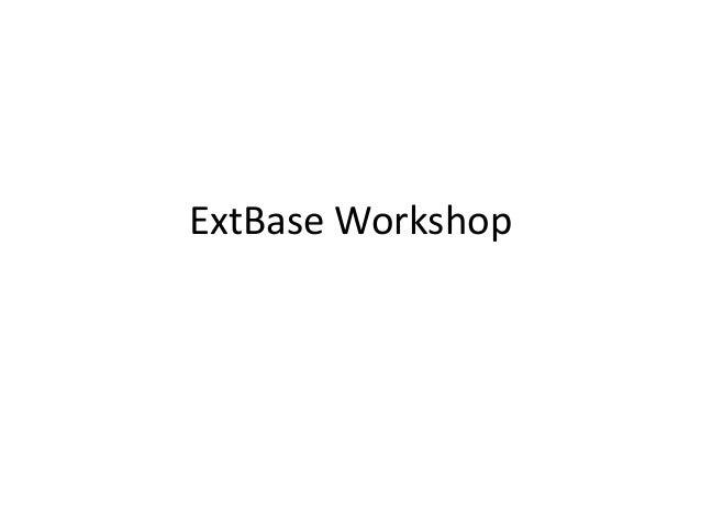 ExtBase Workshop