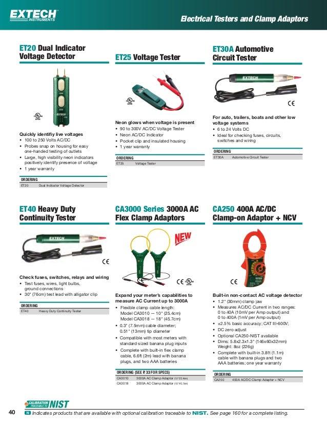 extech katalog