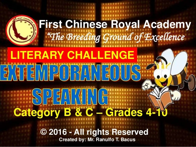 extemporaneous speech topics in the philippines