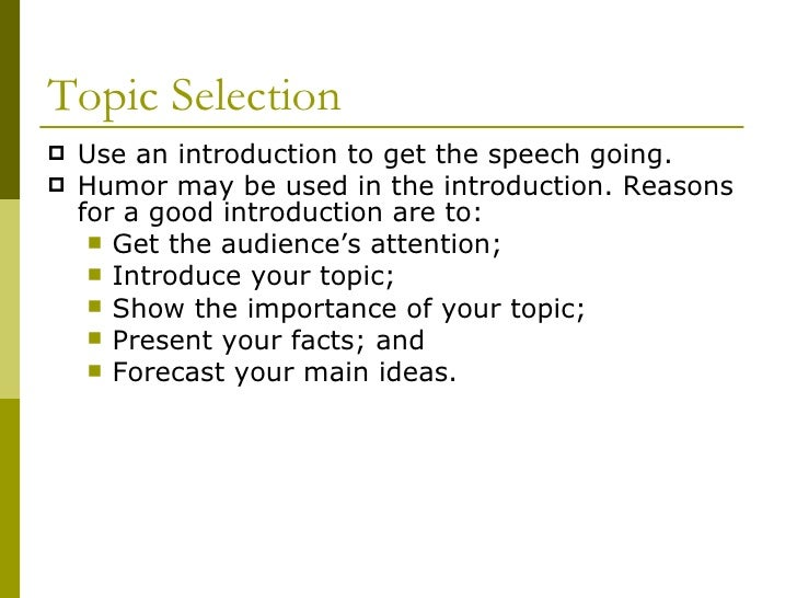 extemporaneous speeches topic