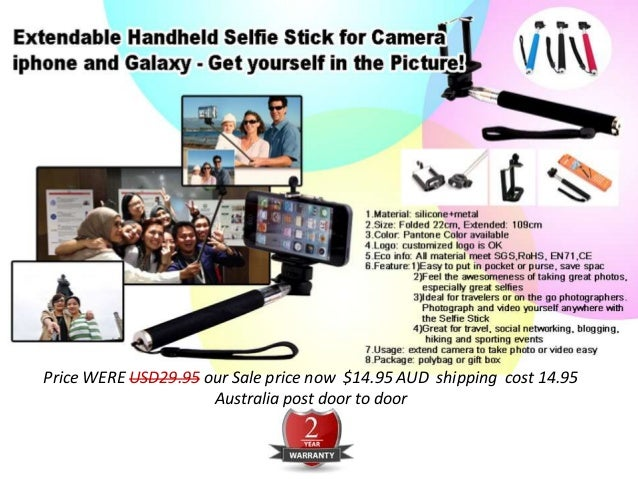 extendable handheld selfie stick for camera iphone and galaxy get y. Black Bedroom Furniture Sets. Home Design Ideas