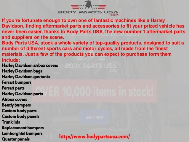 Get Your Custom Harley Parts From Body Parts USA