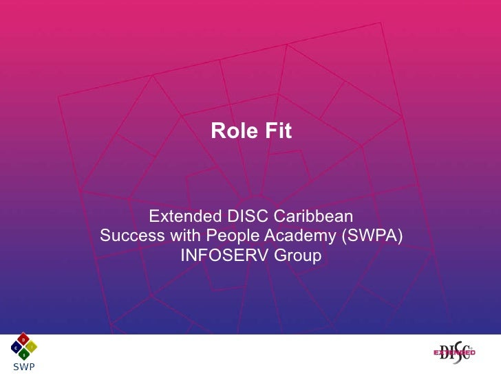 Role Fit Extended DISC Caribbean Success with People Academy (SWPA) INFOSERV Group