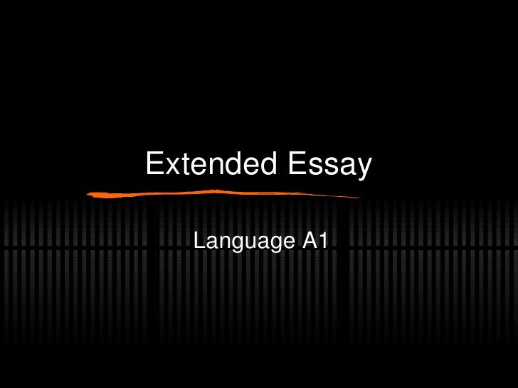 Extended Essay Language A1