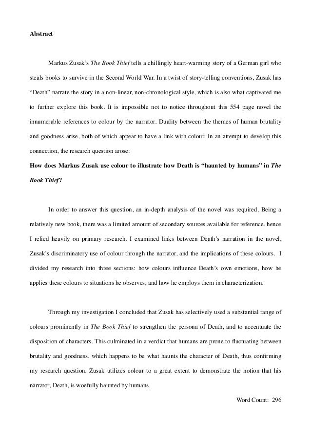 the book thief essay thesis
