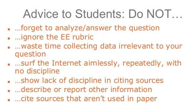 extended definition essay rubrics