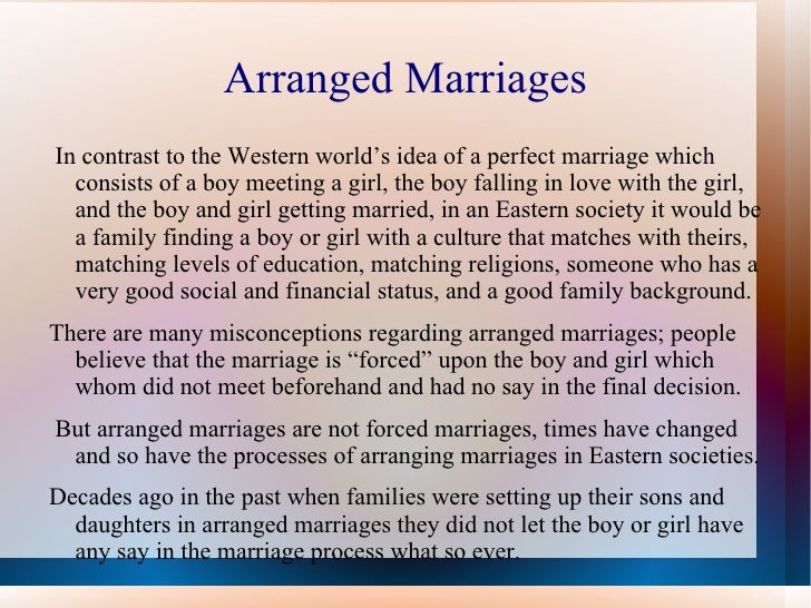 Arranged marriages essay