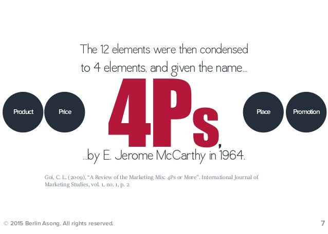 7 elements of extended marketing mix The 7 ps or extended marketing mix of booms and bitner is a marketing strategy tool that expands the number of controllable variables from the four in the original.