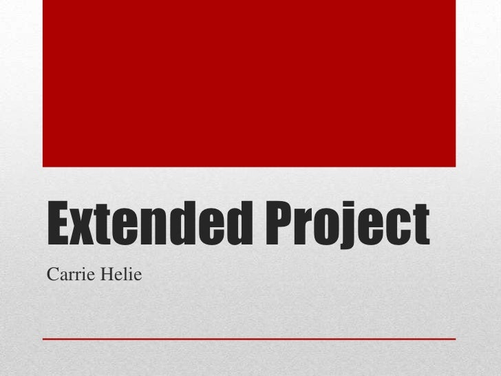 Extended ProjectCarrie Helie