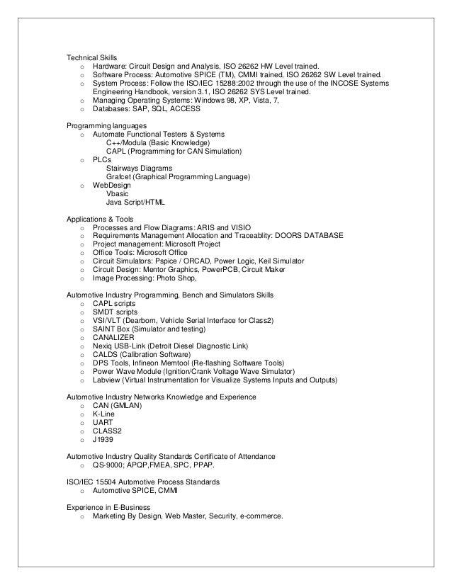 resume oct 2012