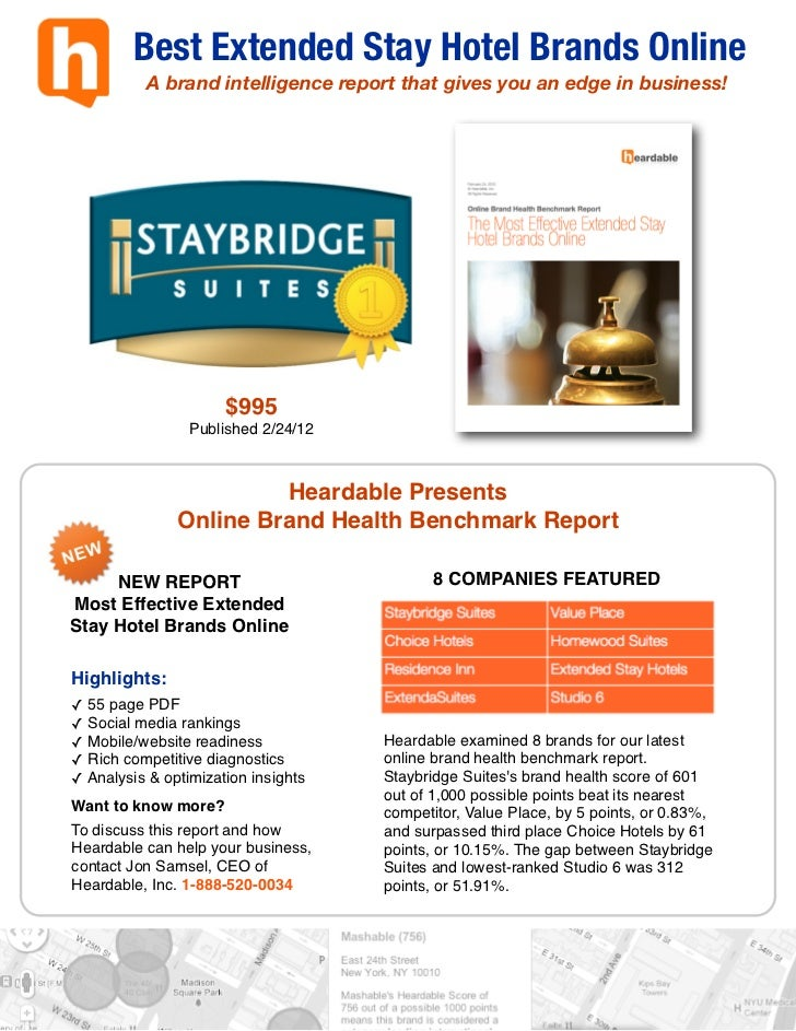 Best Extended Stay Hotel Brands Online           A brand intelligence report that gives you an edge in business!          ...