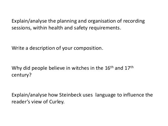 Steinbeck Essays (Examples)