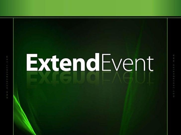 ExtendEvent Conference Deck Slide 1