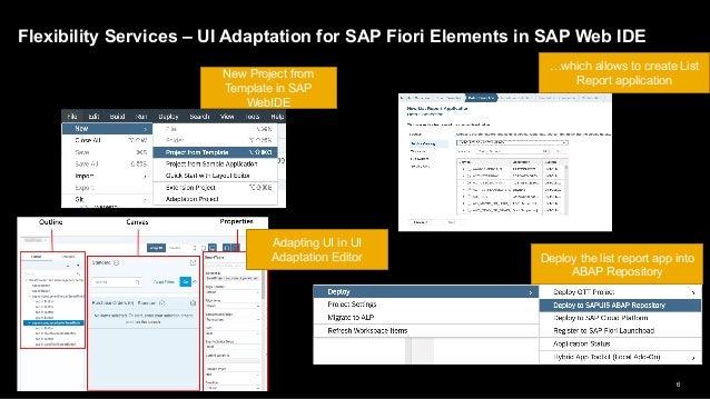 Extending Adaptation Project from SAP WebIDE