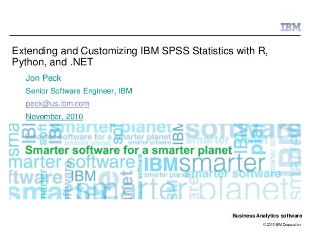 Technology Management Image: Extending And Customizing Ibm Spss Statistics With Python