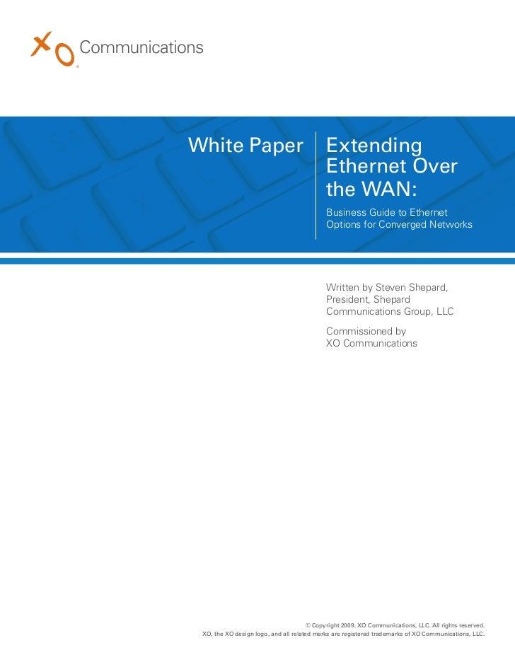 White Paper                                 Extending                                            Ethernet Over            ...