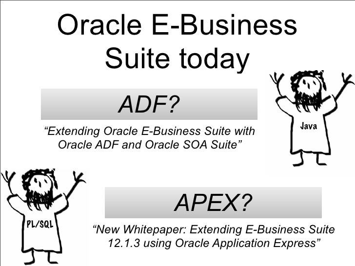 """Oracle E-Business            Suite today                ADF?                                               Java   """"Extendi..."""
