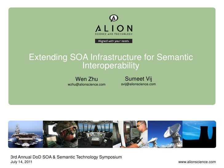 Extending SOA Infrastructure for Semantic                      Interoperability                             Wen Zhu       ...