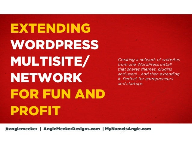 EXTENDING  WORDPRESS  MULTISITE/                                Creating a network of websites                            ...