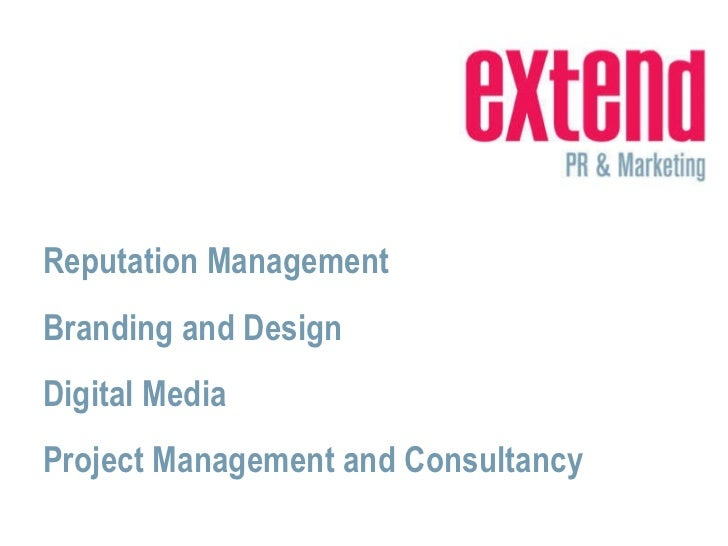 Reputation Management Branding and Design Digital Media Project Management and Consultancy