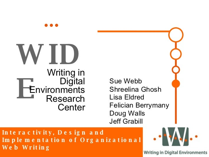 WIDE Writing in Digital Environments Research Center Interactivity, Design and Implementation of Organizational Web Writin...