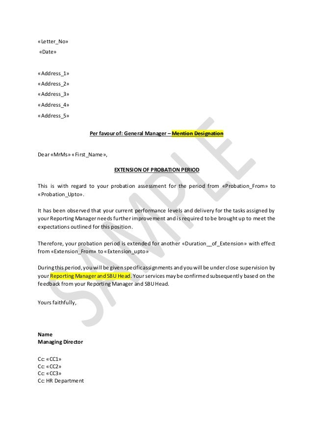 resignation letter format in probation period how to write extension letter for company employee 16166