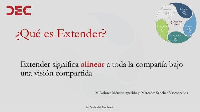 La Onda del EmpleadoLa Onda del Empleado ¿Qué es Extender? Extender significa alinear a toda la compañía bajo una visión c...