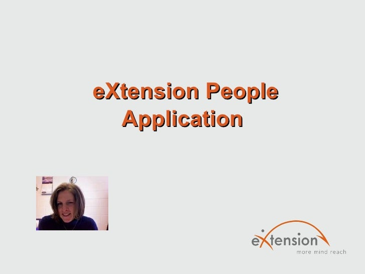 eXtension People Application