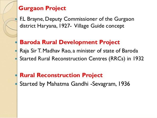 Gurgaon Project   F.L Brayne, Deputy Commissioner of the Gurgaon district Haryana, 1927- Village Guide concept    Baroda...