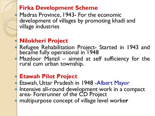            Firka Development Scheme Madras Province, 1943- For the economic development of villages by promoting k...