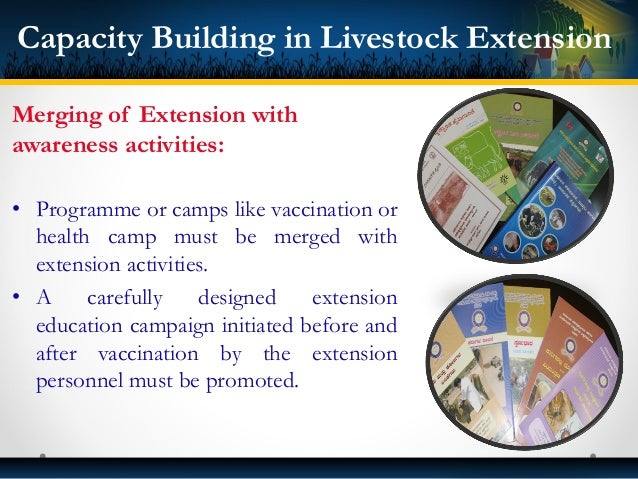 Gender and Livestock Extension: • Need for matching programmes and budgeting for women. • Women Extension workers must be ...