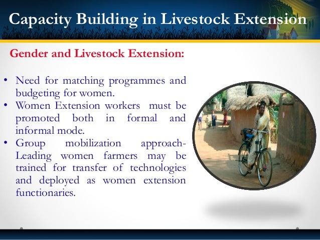 • The Women Dairy Cooperatives can have women extension workers to act as para-extension workers for a community or villag...