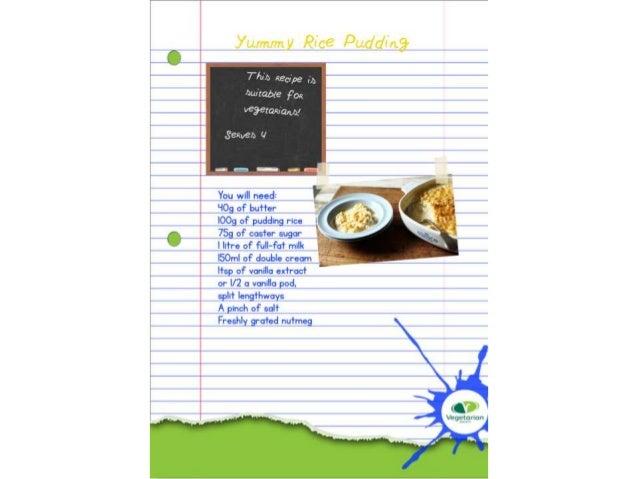 Extension Task- Children's Recipe Card